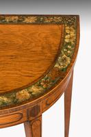 George III Period D-shaped Satinwood Card Table (5 of 7)
