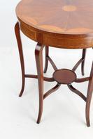 Edwardian Mahogany & Inlaid Circular Side Table (4 of 13)
