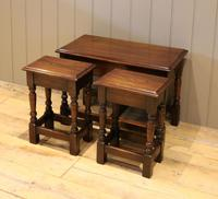 Solid Oak Nest of Tables (6 of 11)