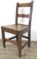 Pair of Antique Oak Bar Back Farmhouse Chairs (8 of 14)