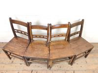 Harlequin Set of 19th Century Welsh Oak Ball & Rail Back Chairs (2 of 11)