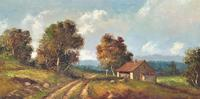Large Fabulous Early 1900s British Farming Impressionist Landscape Oil Painting (10 of 13)