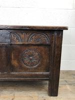 Small 18th Century Carved Oak Coffer (9 of 13)