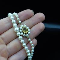 Vintage Pearl and Citrine 9ct Yellow Gold Beaded Pearl Strand Necklace (10 of 11)
