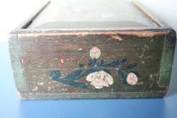 Scandinavian / Swedish 'Folk Art' Original Paint Rosmålning, Desk Timplåda / Sliding Lidded Box Gustavian, 1806 (7 of 16)