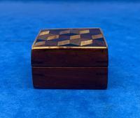 Victorian Rosewood & Tunbridge Ware Stamp Box (3 of 13)
