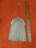 Antique Sterling Silver Hallmarked Art Deco Chain Mail Bag Purse 1923 London A M & M Ltd (7 of 12)