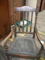 Oak Framed Barley Twist Elbow Chair (2 of 3)