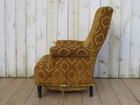 Antique Napoleon III High Back Armchair for re-upholstery (5 of 8)