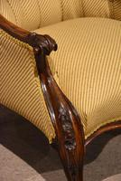 19th Century Carved Upholsterd Armchair (2 of 6)