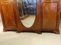 Fine Quality Early 20th Century Mahogany Breakfront Wardrobe (4 of 9)