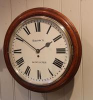 Large Oak Factory Wall Dial Clock (2 of 8)