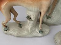 Superb Trio of Staffordshire Whippets c.1850 (3 of 13)