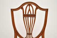 Set of 12 Antique Sheraton Style Shield Back Dining Chairs (12 of 15)