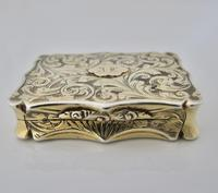 Superb Silver-gilt Vinaigrette Nathaniel Mills Birmingham 1844 (3 of 8)