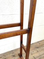 Antique Edwardian Mahogany Towel Rail (7 of 9)