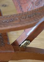 Peruvian Tooled Saddle Leather Folding Armchair (6 of 13)