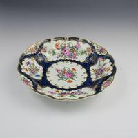First Period Worcester Porcelain Blue Scale Junket Dish c.1770 (6 of 8)