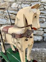 Antique Wooden Push Along Rocking Horse Toy (12 of 19)