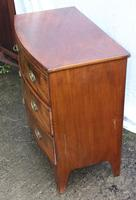 1900's Mahogany 4 Drawer Bow Chest Drawers just Polished (5 of 5)