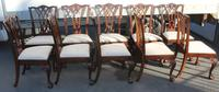 1960's Set of 10 Georgian Style Dining Chairs with Neutral Upholstery (2 of 3)