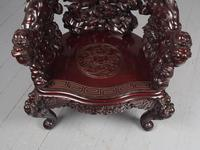 Antique Chinese Carved Hardwood Armchair (10 of 16)