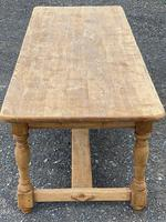 Large French Bleached Oak Farmhouse Table with Extensions (14 of 26)
