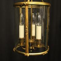 French Gilded Triple Light Antique Lantern (7 of 10)