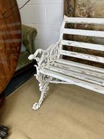 Large White Cast Iron Garden Bench (3 of 6)