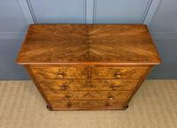 Victorian Burr Walnut Chest of Drawers (12 of 13)