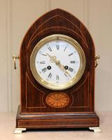 Rosewood Lancet Top Mantel Clock
