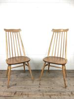 Pair of Ercol Blonde Elm Windsor Chairs (4 of 12)