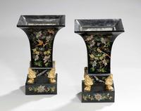 Pair of Mid 19th Century Tole Vases (6 of 6)