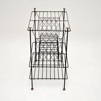 1960's Vintage Steel & Copper Record Rack / Table (4 of 8)