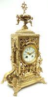Impressive Antique Candelabra 8-day Clock Set French Striking Rococo Ormolu Bronze Mantel Clock (8 of 15)