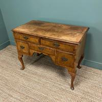 Spectacular 18th Century Figured Walnut Antique Lowboy / Side Table (2 of 5)