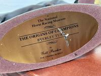 """Set 3 Small Solid Bronze Horse Racing """"The Origins of Champions"""" by Gill Parker (44 of 45)"""