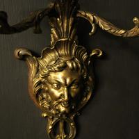 French 19th Century Bronze Bacchus Antique Wall Sconces (3 of 10)