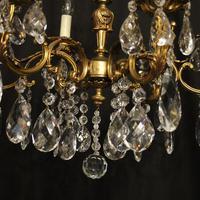 Italian 6 Light Gilded Antique Chandelier (7 of 10)