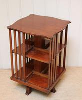 Edwardian Small Proportioned Low Mahogany Revolving Bookcase (6 of 10)