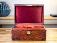 Victorian Red Leather Jewellery Box 1890 (8 of 10)