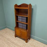 Quality Small Edwardian Figured Mahogany Antique Waterfall Bookcase (2 of 6)