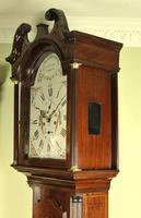 Mahogany Painted Dial Inlaid Longcase Clock - William Bownlie of Hamilton (2 of 8)