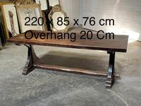 French Farmhouse Dining Table & Benches Set (31 of 33)
