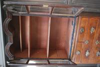 George I Walnut Double Dome Bookcase on Chest (7 of 10)