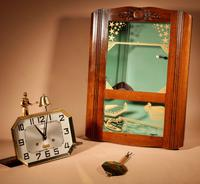 Italian Interest Automaton Large Oak Signed Odo Striking Wall Clock (9 of 11)