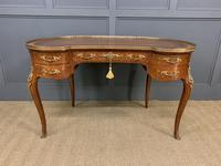 French Kingwood Parquetry Kidney Shaped Desk (7 of 19)