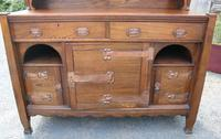 1920s Large Oak Carved Buffet with Display Cupboards (5 of 7)