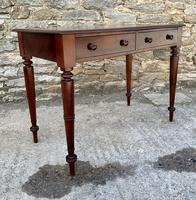Antique Victorian Mahogany Two Drawer Side Table (14 of 20)