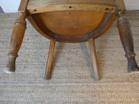 19th Century Oak Desk Chair (4 of 10)